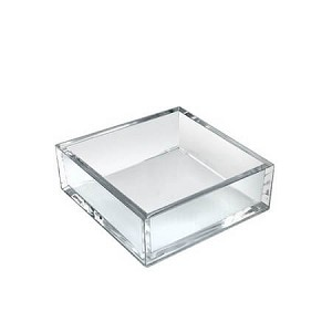 Clear Deluxe Square Tray - 4ct