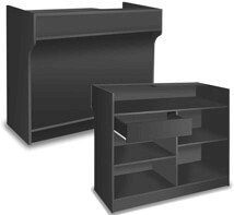 Ledgetop Counter Display - 72 inch - Color Option