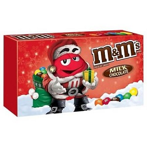 M&M Milk Chocolate Holiday Box - 12ct