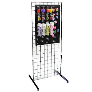 Metal Pegboard Magnet Gridwall Display Free Standing Rack