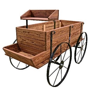 Mini Western Wagon - Toasted Finish