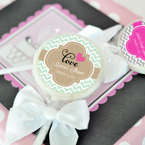 Personalized Wedding Lollipops - 24ct