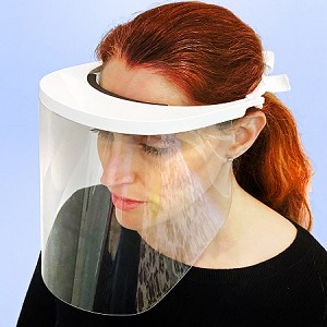 Plastic Face Shield w/ 180 Degree Protection - 4ct
