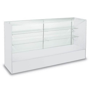 White Full Vision Display Case - 60 Inch