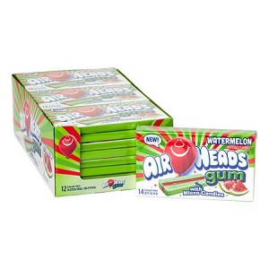 Airheads Sugar-Free Watermelon Gum -12ct