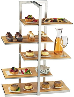 Bamboo Multilevel Shelf Display