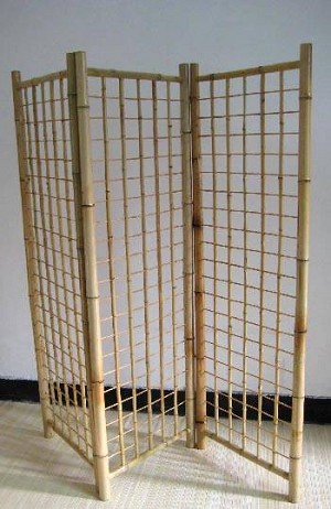 Tri-Fold Bamboo Gridwall Stand - 5ft