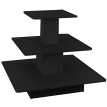 Black 3 Tier Square Table