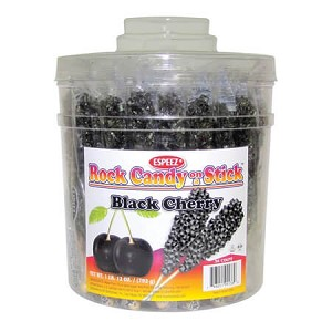 Black Cherry Flavored Rock Candy Tub - 36ct