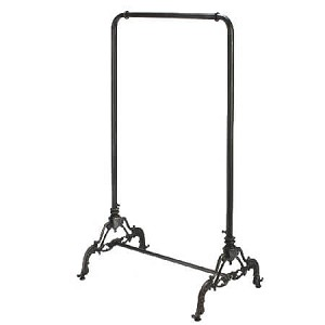 Black Metal Ballet Bar Clothing Rack