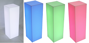 "Fully Lighted Pedestal - 11.5"" - Color Option"