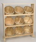 1/2 Bushel Baskets Rack - Color Choice