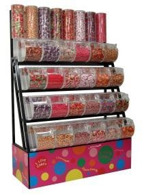 Candy Rack With Towers -Bins - Scoop Assemblies - 72""