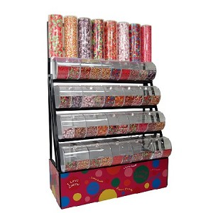 Candy Rack With Divided Bins - Decorative Towers - 72""