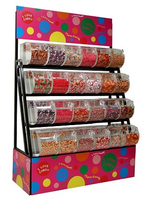 Candy Rack And Top Selling Gummi Candy