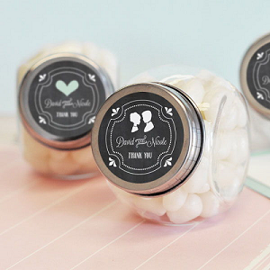 Chalkboard Wedding Glass Candy Jars - 24ct