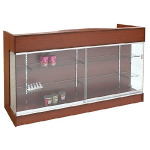 Cherry Ledgetop Showcase Counter