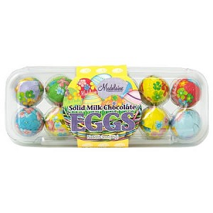 Chocolate Foiled Easter Egg Crate - 12ct