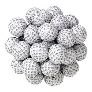 Foil Wrapped Chocolate Golf Balls - 5lbs