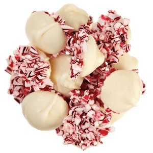 White Chocolate Peppermint Nonpareils - 6lbs