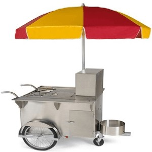 Classic New Yorker Hot Dog Cart