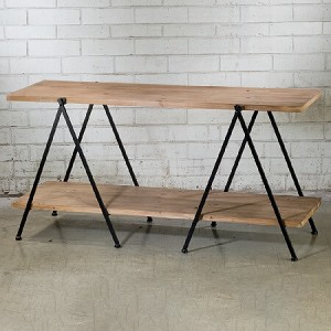 Contemporary Wooden 2-Tier Display Table