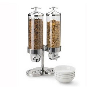 Double Cereal Dispenser - w/Pedestal Base