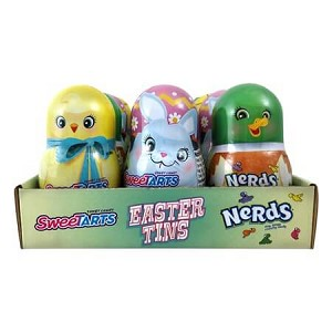 Easter Egg Nerds/Smarties Tins - 24ct