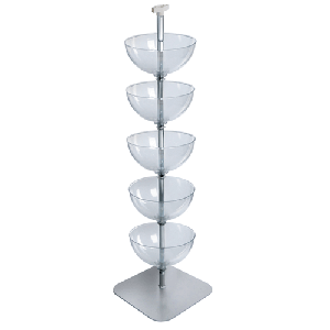 "Five Tier 14"" Bowl Floor Display"
