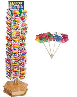 Flower Lollipop Floor Display Candy Display Lollipop