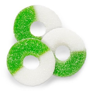 Green Apple Gummi Rings - 4.5lbs