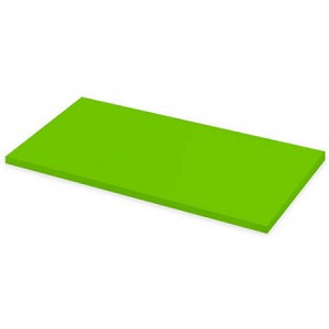 "Green Laminate Wood Shelf - 12""W x 48""L - 4ct"
