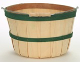 Half Peck Baskets - Green Bands - 12ct