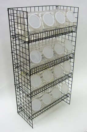 Hex Short Stack Rack And Containers