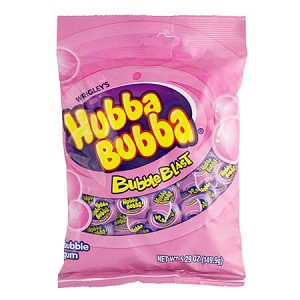 Hubba Bubba Bubble Blast Peg Bags - 12ct