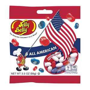 Jelly Belly All American Mix Peg Bags - 12ct