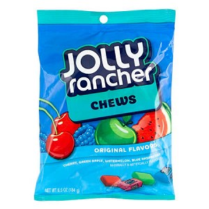 Jolly Rancher Fruit Chews Peg Bags - 12ct