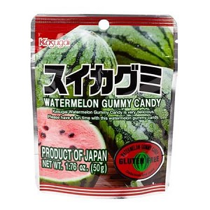 Kasugai Gummy Watermelon Peg Bag - 12ct