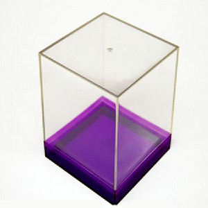 Large Box Canisters w/ Colored Base - 6ct