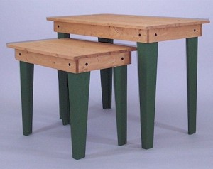 Large 2 Piece Table Set - Choose Leg Color