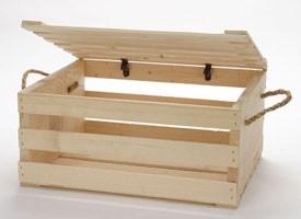 Wood Crates With Lid Wood Display Box Storage Bin