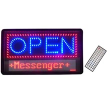 LED Open Sign with Message Board