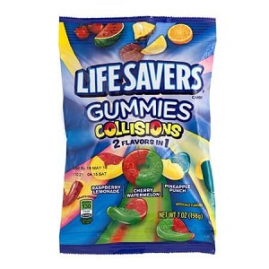 Lifesavers Gummies Collisions Peg Bags - 12ct