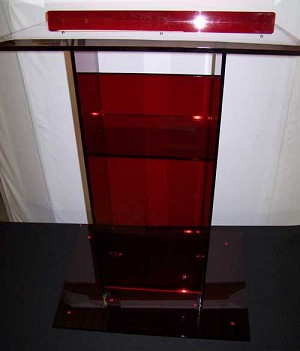"Large Standard 32"" Red Color Podium"