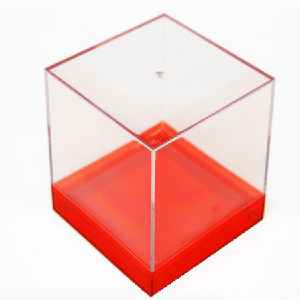 Medium Box Canister with Colored Base - 6ct