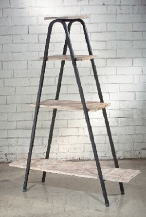 Metal Ladder 4-Shelf Display