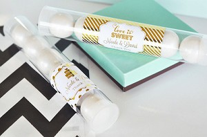 Metallic Foil Wedding Candy Tubes - 24ct
