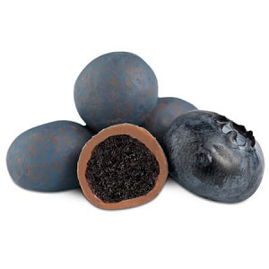 Milk Chocolate Dried Blueberries - 10lbs
