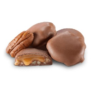 Mini Milk Chocolate Pecan Caramel Patties -10lbs