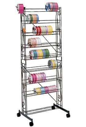 Large Mobile Ribbon Rack Ribbon Storage System Wire Rack